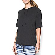 Womens Under Armour Modal Essential Hoody Short Sleeve Technical Tops