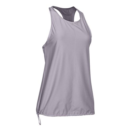 Womens Under Armour Studio Go To Tank Technical Tops - Cloud Grey S