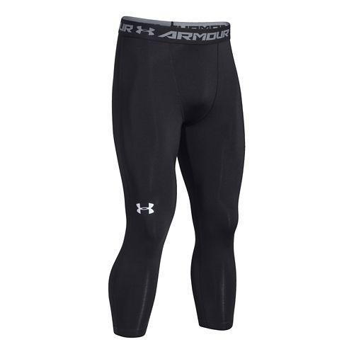 Mens Under Armour HeatGear 3/4 Compression Legging Capri Tights - Black M