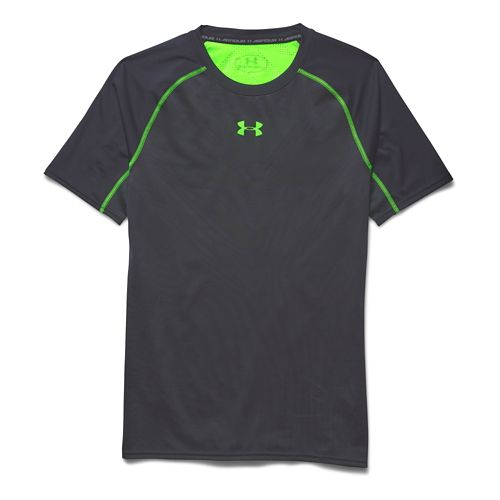 Mens Under Armour Heatgear ArmourVent Compression Shirt Short Sleeve Technical Tops - ...