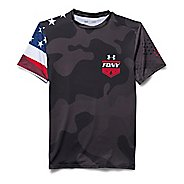 Mens Under ArmourFreedom FDNY Compression Shirt Short Sleeve Technical Tops