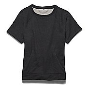 Womens Under Armour Studio Terry Crew Short Sleeve Technical Tops
