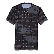 Mens Under Armour Freedom Camo Compression Shirt Short Sleeve Technical Tops