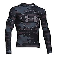Freedom Camo Compression Shirt Long Sleeve No Zip Technical Tops
