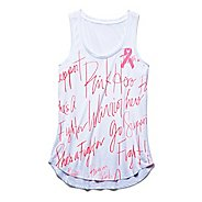 Womens Under Armour Power in Pink All Over Print Tank Technical Tops
