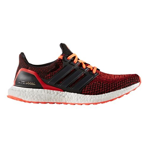 Mens adidas Ultra Boost Running Shoe - Black/Red 10.5