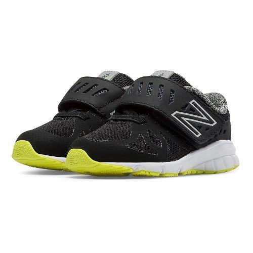 Kids New Balance RushV1 Velcro Running Shoe - Black/Hi-Lite 4