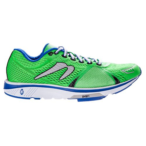 Mens Newton Running Gravity V Running Shoe - Green/Blue 9.5
