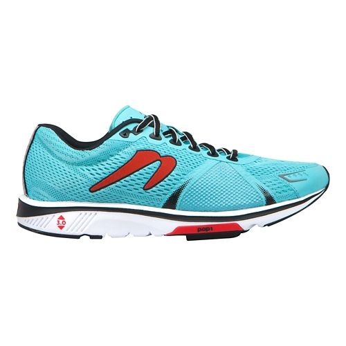 Mens Newton Running Gravity V Running Shoe - Sky Blue/Red 10
