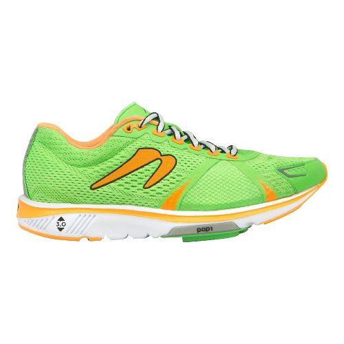Womens Newton Running Gravity V Running Shoe - Kiwi/Orange 10.5