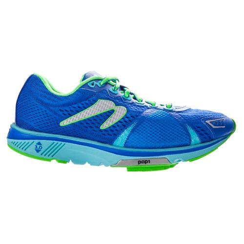 Womens Newton Running Gravity V Running Shoe - Dark Blue/Aqua 10