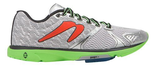 Mens Newton Running Distance V Running Shoe - Silver/Lime 11.5