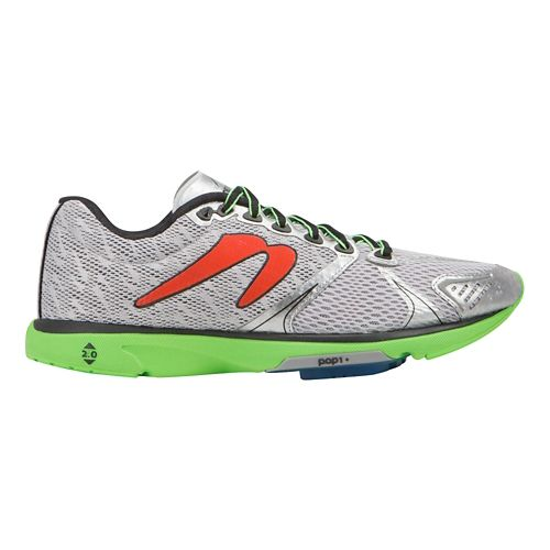 Mens Newton Running Distance V Running Shoe - Silver/Lime 10.5