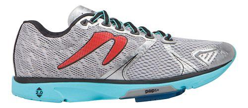 Womens Newton Running Distance V Running Shoe - Silver/Aqua 7