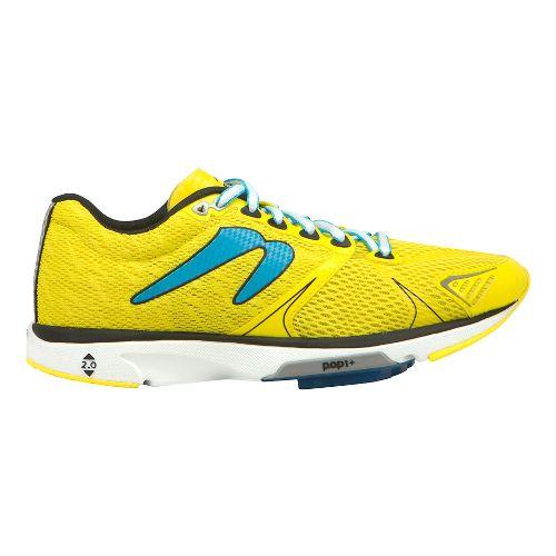 Womens Newton Running Distance V Running Shoe - Yellow/Blue 10