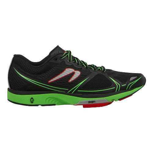 Mens Newton Running Motion V Running Shoe - Black/Green 11.5