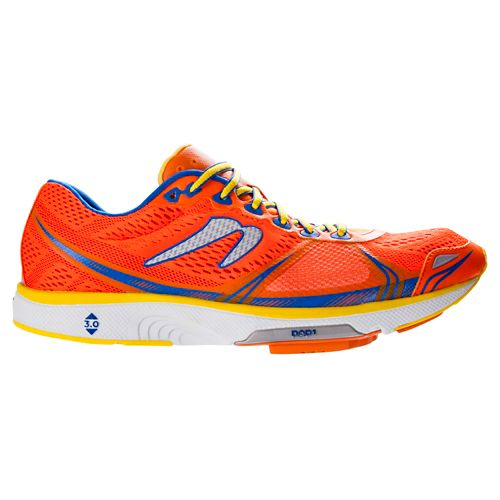 Mens Newton Running Motion V Running Shoe - Orange/Blue 8.5