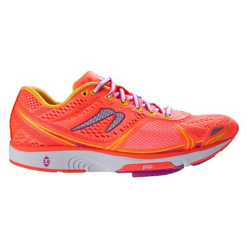 Womens Newton Running Motion V Running Shoe - Coral/Yellow 9