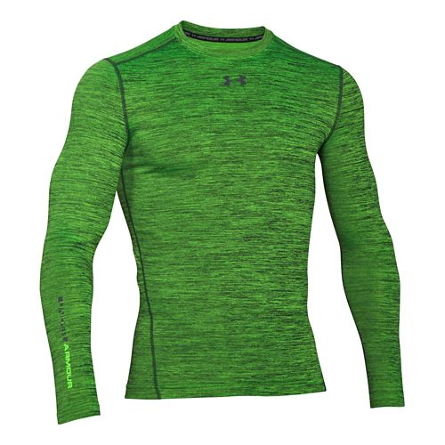 Mens Under Armour ColdGear Armour Twist Compression Crew Long Sleeve Technical Tops - Hyper ...