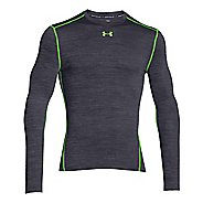 Mens Under Armour Coldgear Armour Twist Compression Crew Long Sleeve No Zip Technical Tops