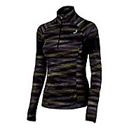 Womens ASICS Lite-Show 1/2 Zip Long Sleeve Technical Tops