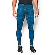 Mens Under Armour ColdGear Armour Printed Compression Leggings Tights