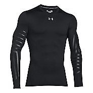 Mens Under Armour ColdGear Armour Graphic Compression Crew Long Sleeve Technical Tops