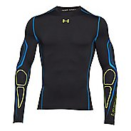 Mens Under Armour Coldgear Armour Graphic Compression Crew 2 Long Sleeve No Zip Technical Tops