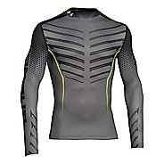 Mens Under Armour EXO Coldgear Mock Long Sleeve No Zip Technical Tops
