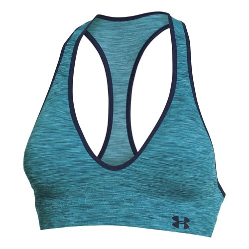 Womens Under Armour Seamless Low Space-Dye Sports Bras - Montana Teal L