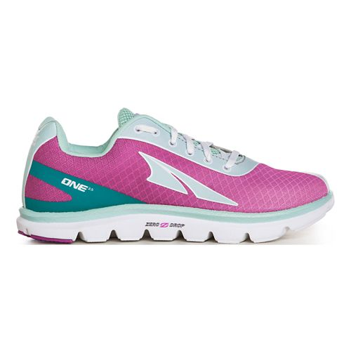 Womens Altra One 2.5 Running Shoe - Fuchsia/Mint 9.5