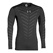 Mens Under Armour Coldgear Infrared Armour Compression Crew Long Sleeve No Zip Technical Tops