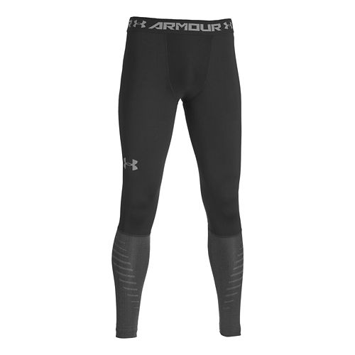Mens Under Armour Coldgear Infrared Armour Compression Legging Full Length Tights - Black M
