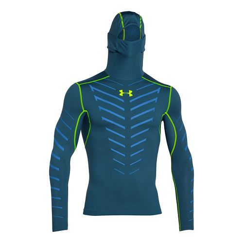 Mens Under Armour Coldgear Infrared Armour Compression Warm Up Hooded Jackets - Legion ...