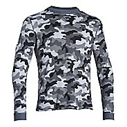 Mens Under Armour Amplify Camo Thermal Crew Long Sleeve No Zip Technical Tops