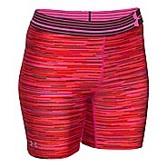 Womens Under Armour HeatGear Compression Printed Mid Unlined Shorts