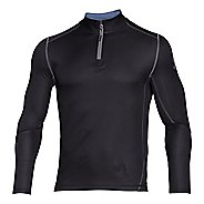 Mens Under Armour Coldgear Infrared Grid Mock Long Sleeve Half Zip Technical Tops