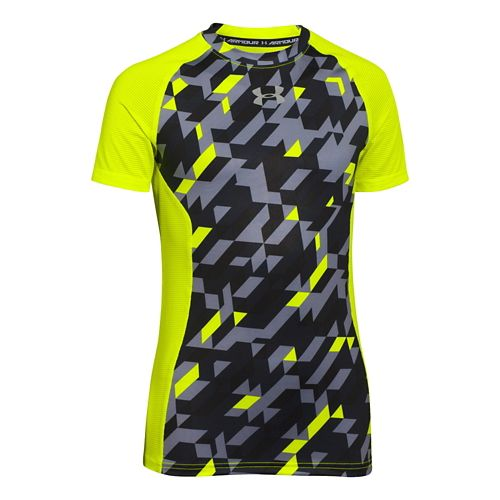 Children's Under Armour�HeatGear Armour Up Printed Shortsleeve Fitted Shirt