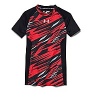 Kids Under Armour HeatGear Up Printed Fitted Shirt Short Sleeve Technical Tops