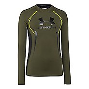Kids Under Armour HeatGear Up Fitted Shirt Long Sleeve No Zip Technical Tops