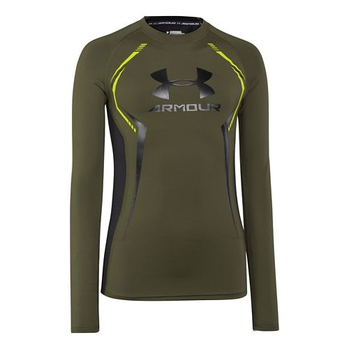 Kids Under Armour�HeatGear Armour Up Longsleeve Fitted Shirt