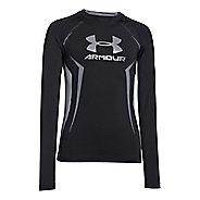 Kids Under Armour HeatGear Up Fitted Shirt Long Sleeve No Zip Technical Tops