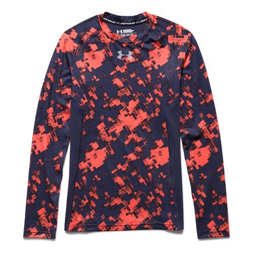 Kids Under Armour�HeatGear Armour Up Longsleeve Printed Fitted Shirt