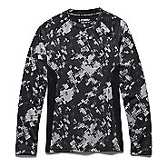 Kids Under Armour HeatGear Up Printed Fitted Shirt Long Sleeve No Zip Technical Tops
