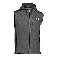 Mens Under Armour Coldgear Infrared Survival Fleece Outerwear Vests - Black/Hyper Green XXL