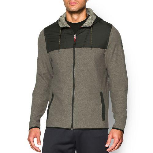 Mens Under Armour Coldgear Infrared Survival Fleece Full-Zip Warm Up Hooded Jackets - ...