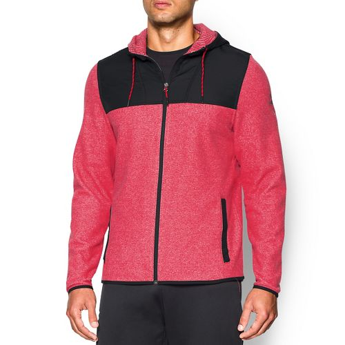 Mens Under Armour ColdGear Infrared Survival Fleece Full-Zip Hoodie & Sweatshirts Technical ...