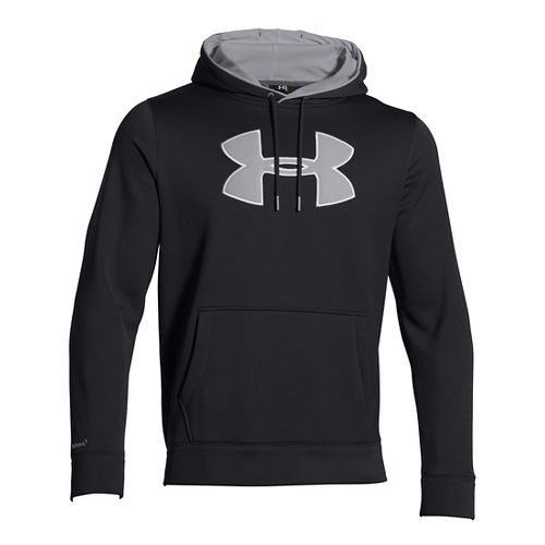 Mens Under Armour Storm Armour Fleece Big Logo Hoodie & Sweatshirts Technical Tops - ...