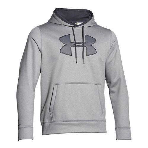 Mens Under Armour Storm Armour Fleece Big Logo Hoody Outerwear Jackets - True Grey/Grey XL-R ...
