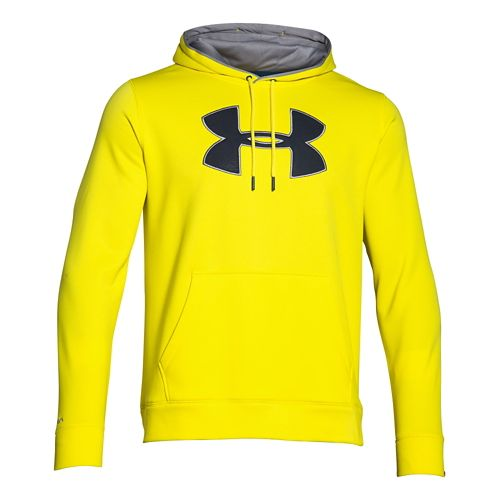 Mens Under Armour Storm Armour Fleece Big Logo Hoodie & Sweatshirts Technical Tops - ...